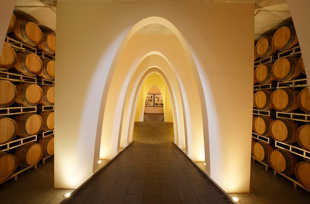 Cantina con arcate - CastelGiocondo - Frescobaldi